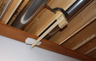 upper ceiling and soffit