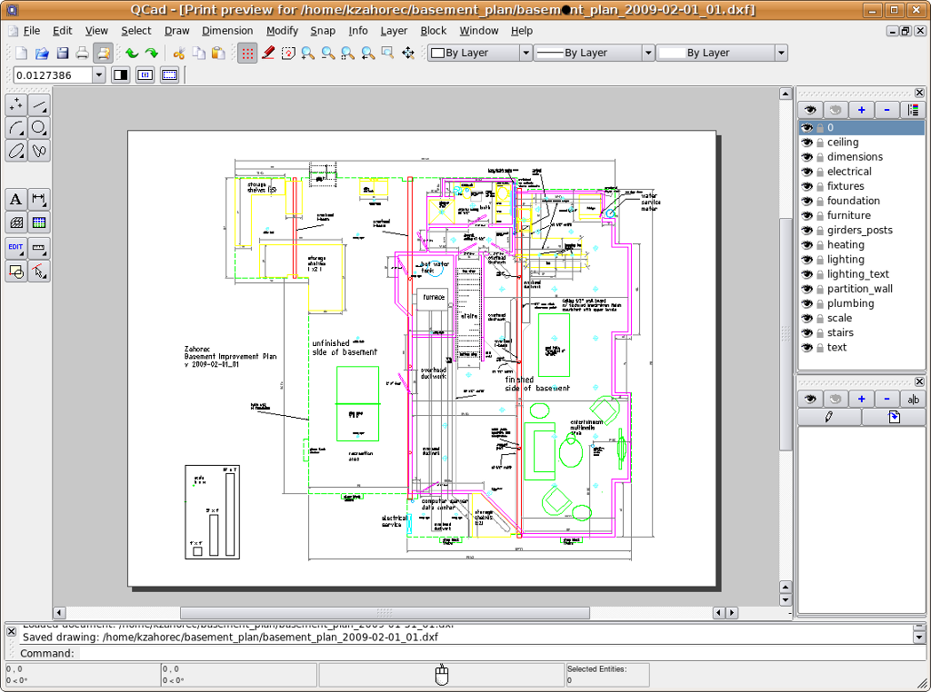 Librecad creating a detailed design drawing for a for Librecad templates download